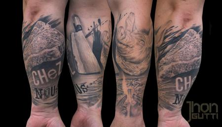 Tattoos - CULINARY HALF SLEEVE - 126487
